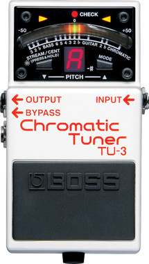 Boss TU-3 Chromatic Tuner Pedal with Bypass (TU3)