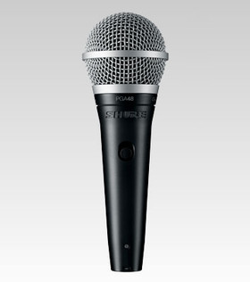 Shure PGA48-XLR Cardioid Dynamic Vocal Microphone with 15' XLR-XLR Cable