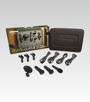 Shure PGASTUDIOKIT4 4-Piece Studio Microphone Kit