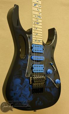 Ibanez Premium JEM77P Steve Vai Signature - Blue Floral Pattern | Ibanez Floyd Rose Trem Electric Guitar - Northeast Music Center Inc.