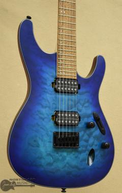 Ibanez S621QM - Sapphire Blue Flat | Northeast Music Center Inc.