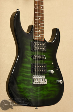 Ibanez GRX70QA - Transparent Emerald Burst - Ibanez gio Electric Guitars Northeast Music Center inc.