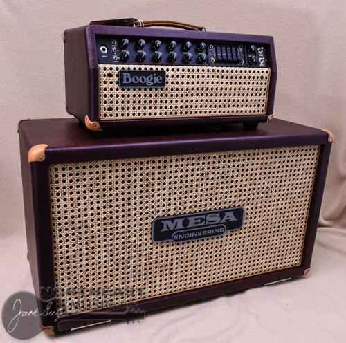 Mesa Boogie Mark V:35 Head  & Matching 2x12 Rectofier Cabinet in Wine Taurus with Wicker Grille and Tan Leather Corners