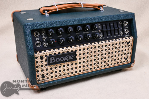 Mesa Boogie Mark V:25 Amplifier Head in Emerald Bronco with Wicker Grille and Tan Leather Corners (2.MM.117D.V11.G07.P03.H04.C02)