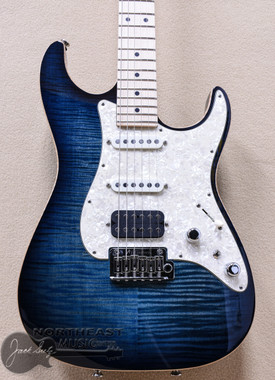 Tom Anderson Drop Top Classic - Arctic Blue Burst with Binding | Anderson Guitarworks Northeast Music Center