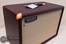 Mesa Boogie 1x12 Widebody Clsoed Back Cabinet in Wine Taurus with Tan Jute (0.112WC.V26.G03.P03.H01.C02.C90)