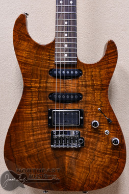 Tom Anderson Drop Top Koa in Honey Shaded Edgeburst with Binding