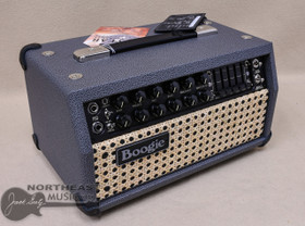 Meas Boogie Mark V:25 in British Slate Bronco with Wicker Grille and Black Welt w/ Chrome Hardware and Black Leather Corners
