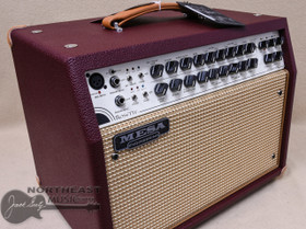 Mesa Boogie Rosette 300 2x8 Acoustic Guitar Amplifier in Wine Taurus with Tan Jute
