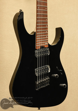 Ibanez RGMS7 Multi Scale 7 String Electric Guitar in Black (RGMS7) Fanned Fret | Northeast Music Center inc.