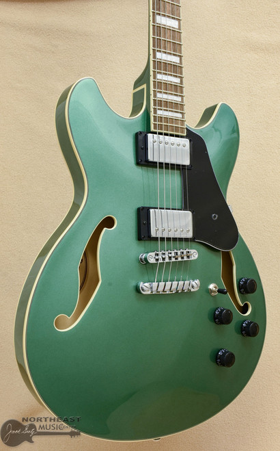 Ibanez Artcore AS73 Hollow Body - Olive Green Metallic | Ibanez Electric Guitars Northeast Music Center