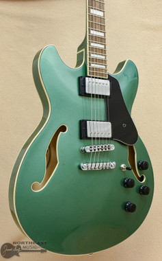 Ibanez Artcore AS73 Semi-Hollow - Olive Green Metallic | Northeast Music Center Inc.