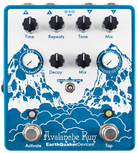 Earthquaker Avalanche Run Stereo Reverb & Delay with Tap Tempo (AVALANCERUNV2)
