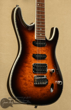 Ibanez SA460 Electric Guitar With Quilted Maple Top in Antique Brown Burst  | Northeast Music Center Inc. SA460QMABB