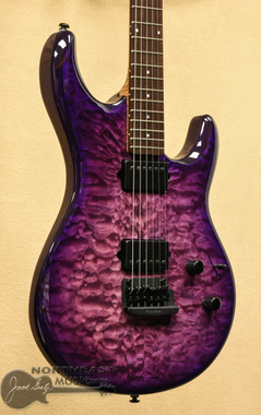 Ernie Ball Music Man Luke III BFR - Boysenberry Quilt | Steve Lukather Northeast Music Center