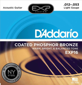 D'addario EXP Coated NY Steel Acoustic Strings