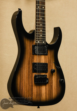 Ibanez GRG120 Zebra Wood - Natural Grey Burst | Ibanez Gio Electric Guitar - Northeast Music Center inc.