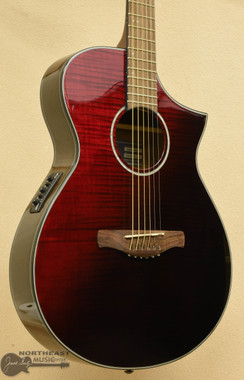 Ibanez AEWC32FM Acoustic Electric Guitar - Red Sunset Fade | Northeast Music Center Inc.