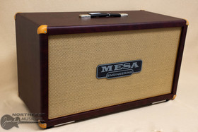 Mesa Boogie 2x12 Rectifier Cabinet - Wine Taurus, Tan Jute | Northeast Music Center Inc.