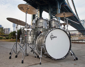 Gretsch Drums USA Brooklyn Series 4-Piece Shell Pack in Smoke Grey Oyster