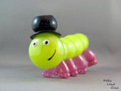 Piggerpillar - Blown Glass Kritter by Kelly Lowe