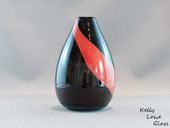 Pinhole Small Glass Vase, Black and Red - Kelly Lowe Glass