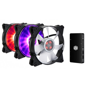 MasterFan Pro 120 Air Flow RGB 3 in 1 with RGB LED Controller