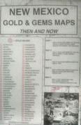 New Mexico Gold & Gem Maps - Then and Now by  R.N./M.L. Preston
