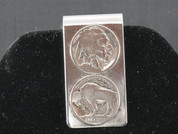 Authentic Silver Buffalo Nickel Money Holder