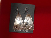 Earrings Sterling Silver Desert Plant Series - Yucca,  **FREE SHIPPING** handmade by Silver Craftsman Leroy Anderson