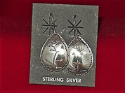 Earrings Sterling Silver Desert Plant Series - Mescal Agave,  **FREE SHIPPING** handmade by Silver Craftsman Leroy Anderson
