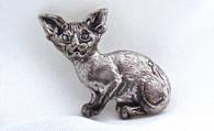Siamese Kitten Pendant Sterling Silver