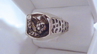 Serval Savannah Siver Mens Ring