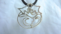 Loving Cat Pendant Front