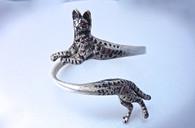 Sterling Silver Serval Savannah Bracelet