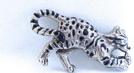 Bengal Cat Pendant Sterling Silver