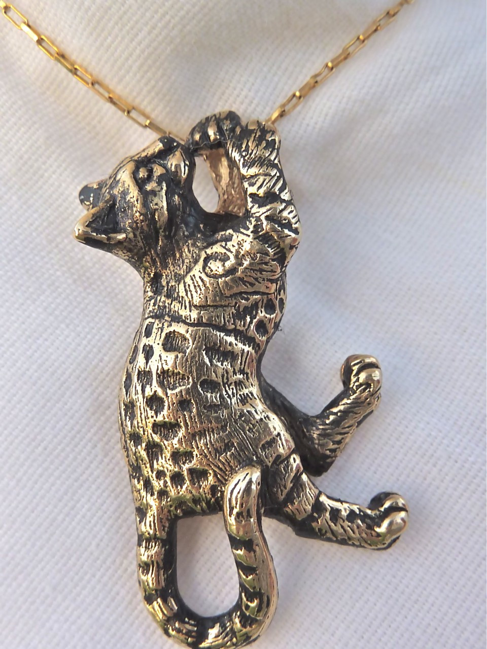 cat jewelry bengal cat pendant 14kt fazio s cat jewelry 5113