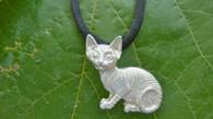 Sphynx Kitten Pendant Sterling Silver