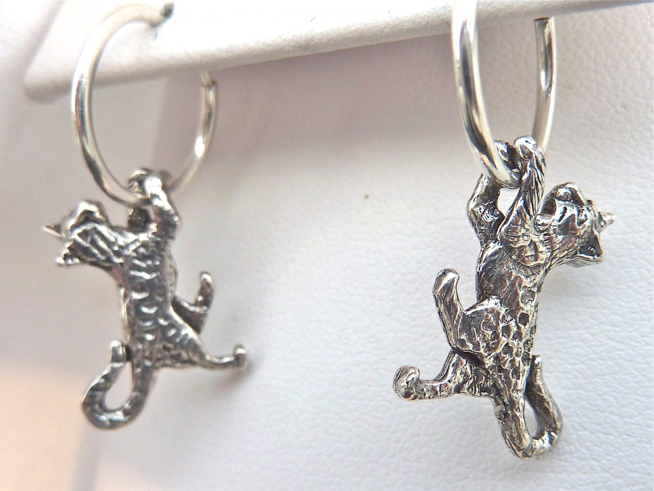 cat jewelry bengal cat earrings sterling silver fazio s cat jewelry 4682