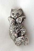 Kitten Swinging Pendant Sterling Silver