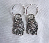 Maine Coon Cat Earrings Sterling Silver
