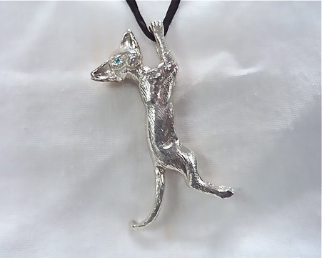 Siamese Extreme Pendant Sterling Silver