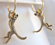 Savannah Cat Earrings 14ky
