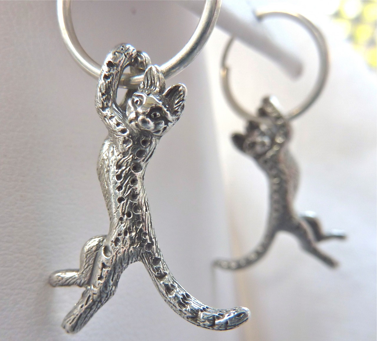 cat jewelry cat earrings sterling silver fazio s cat jewelry 6296
