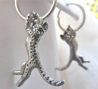 Savannah Cat Earrings Sterling Silver
