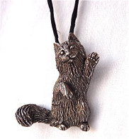 Norwegian Forest Cat Pendant 14kt
