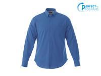 Blue 17744T Wilshire Men's Tall Long Sleeve Shirt | Imprintables.ca