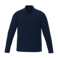 Navy - 16255T Mori Men's Long Sleeve Tall Polo