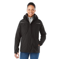 Black/Black, Model - Elevate 99306 Yamaska 3-in-1 Jacket | Imprintables.ca