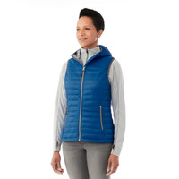 Olympic Blue, Model - Elevate 99556 Women's Junction Packable Insulated Vest | imprintables.ca